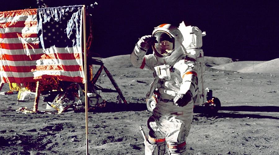 NASA og Neil Armstrong på månen